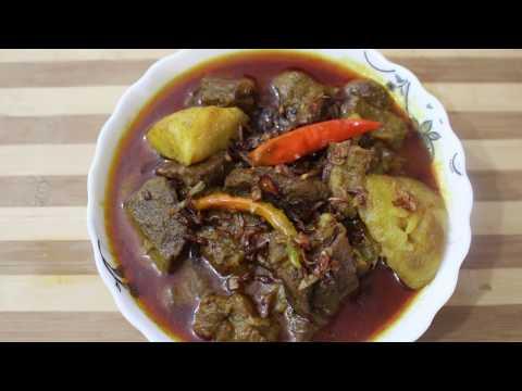 How to cook GORUR MANGSHO MAKHEA RANNA/ গরুর মাংস  মাখিয়ে রাননা