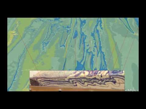 Valley and Ridge topography 2: Cross section and a physical model