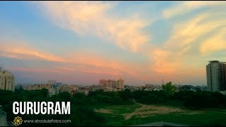 Gurugram Time lapse (4K 60fps) | Cityscape Time lapse | SouthCity | Colorful Evening Sky