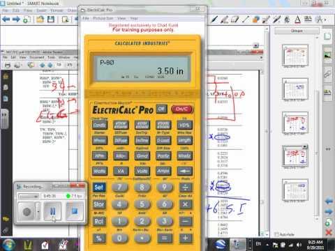 Electrical Calculator-L#02-Conduit Fill (U#05)-9-29-11.wmv