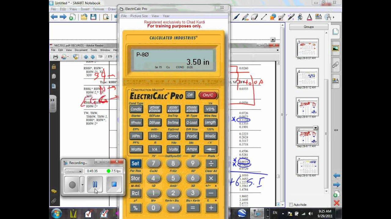 Electrical Calculator L 02 Conduit Fill U 05 9 29 11 Wmv