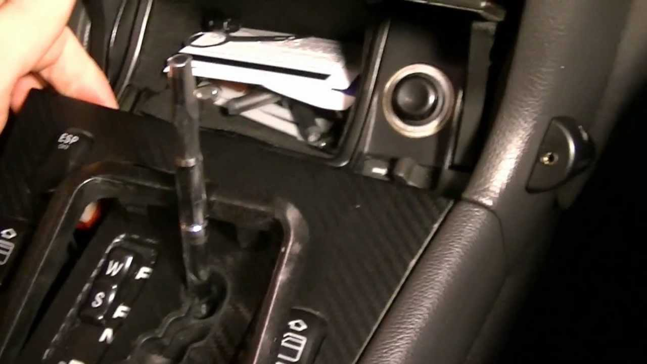 How to remove shift knob and surrounding panels mercedes for Mercedes benz stick shift