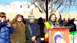 WOMEN'S MARCH SANTA FE  2019 – SANTA FE PLAZA –  Tara Lee  New Mexico Women