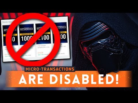 ► EA *DISABLES* MICROTRANSACTIONS: No More Pay 2 Win! - Star Wars Battlefront 2