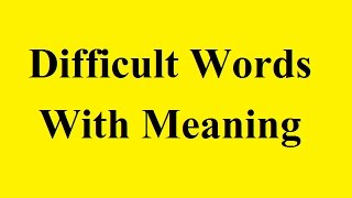 Difficult Words With Meaning   Flabbergasted