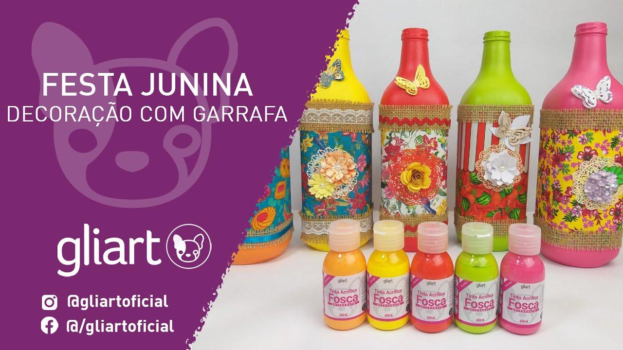 DIY | Garrafa Decorativa De Festa Junina