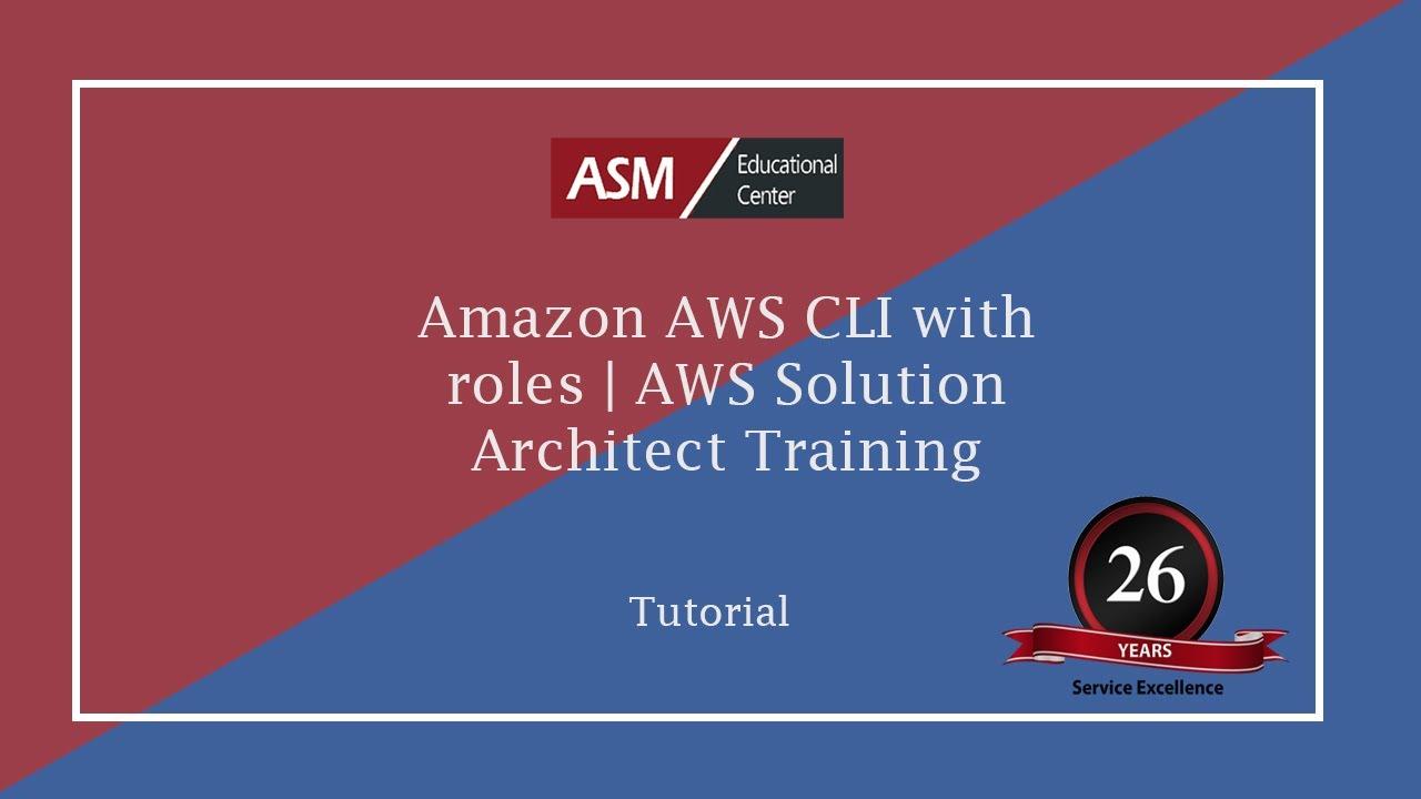 Amazon AWS CLI with roles | AWS Solution Architect Training