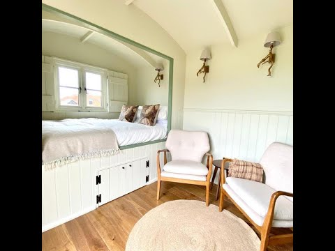 A Video Tour of the Shepherd's Hut Accommodation at Titchwell Manor Hotel, North Norfolk