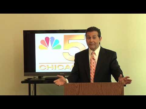 NBC5 Meterorologist Andy Avalos at Illinois Center for Broadcasting, Chicago Campus