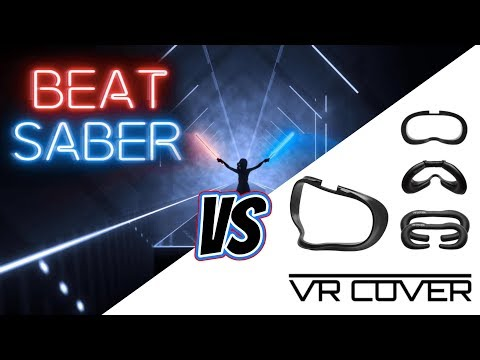 Oculus Quest VR Cover facial replacement review with Beat Saber - Part 1