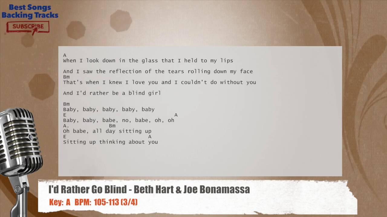 I D Rather Go Blind Beth Hart Joe Bonamassa Vocal Backing