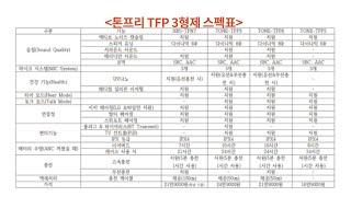 톤프리 TFP 3형제 스펙 비교&프리뷰 / 출시…