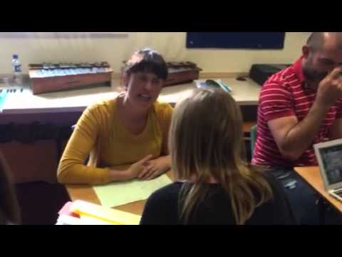 speed dating activity in classroom