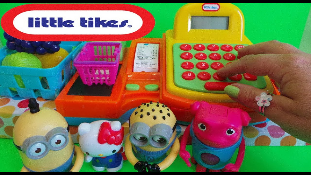 Little tikes cash register - Worlds Best Little Tikes Toy Cash Register Till Scanner Set With Hello Kitty Minions
