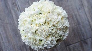 Делаем белый букет невесты