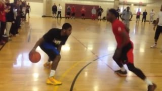Best of Kyrie Irving playing 1 on 1 vs Fans! - Crazy Handles!