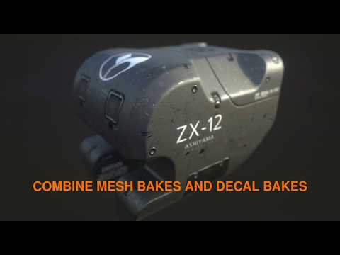 DECALmachine - combine  mesh bakes and decal bakes