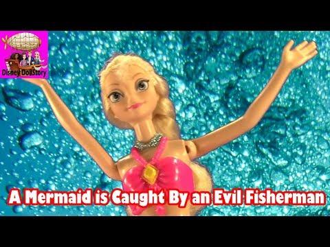 Elsa is Captured by an Evil Fisherman - Part 4- Elsa the Mermaid Series -Frozen Little Mermaid