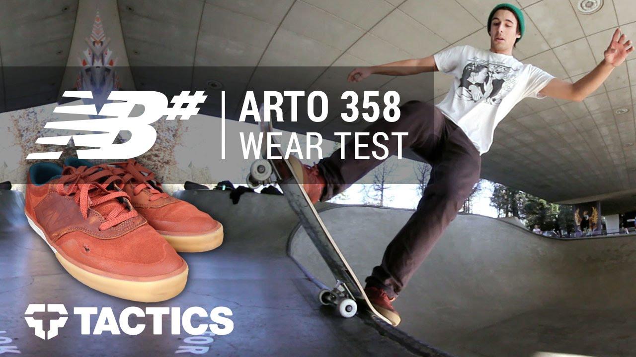 8ead6b5f985bb New Balance Numeric Arto 358 Skate Shoes Wear Test Review - Tactics.com -  YouTube