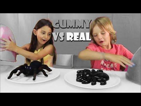 Real vs. Gummy Challenge ita - Cibo reale vs Cibo gommoso sfida - Real food vs gummy food
