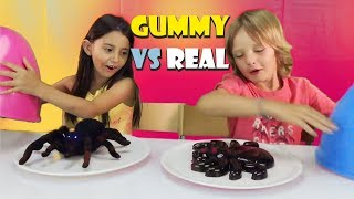Real vs. Gummy Challenge ita - Cibo reale vs Cibo gommoso sfida - Real food vs gummy food