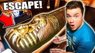 24 HOUR Prison Escape Room Challenge Mummy!! THE MAN TOP SECRET Mystery Battle Royale Game