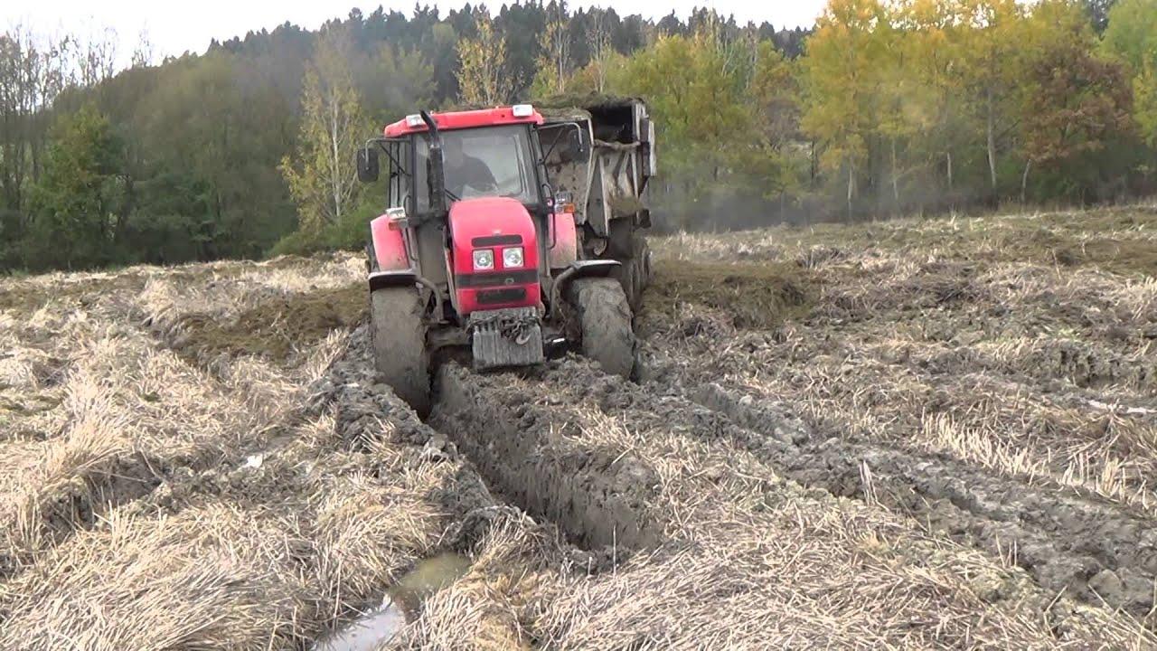 Traktory V Bahne Tractors In Mud Youtube
