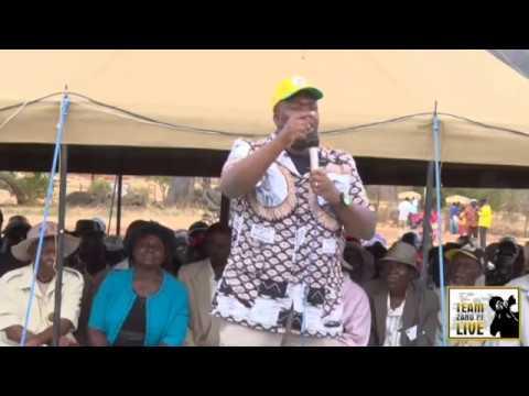 Hon Savior Kasukuwere speaking (Part 1) in Mudzi West - 21 June 2015