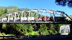 Freight Over Feather River Route Bridge