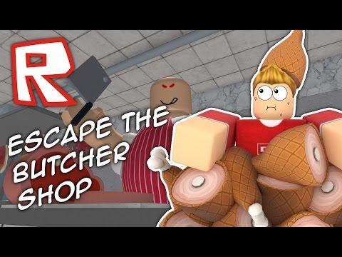 ESCAPE THE CRAZY BUTCHER SHOP!! Roblox Obby