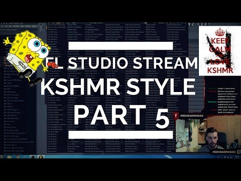 Redhead Live Stream 14: FL Studio / Twitch - Making KSHMR Tune Part 5 [Full Stream]