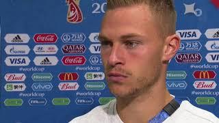 Joshua Kimmich - Post-match Interview Deutschland v Mexiko (WM 2018)