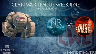 Clash of Clans | CWL Week 1 - North Remembers vs Just Clash Maui