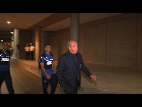 Italia-Francia: l'arrivo degli Azzurri allo Stadio San Nicola
