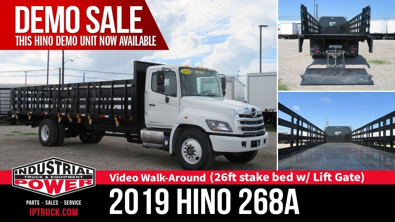 2019 Used HINO 268A (26ft Stake Bed with Lift Gate) at Industrial