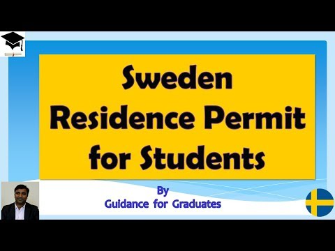 Sweden Visa , Residence Permit for International Students , Part Time Jobs