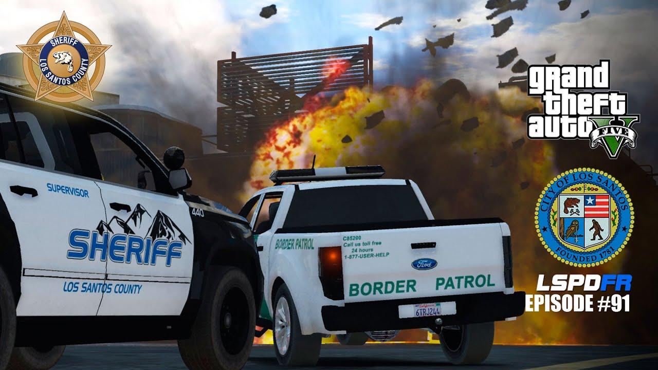 GTA 5 PC Mods LSPDFR 91 East Side Border Patrol