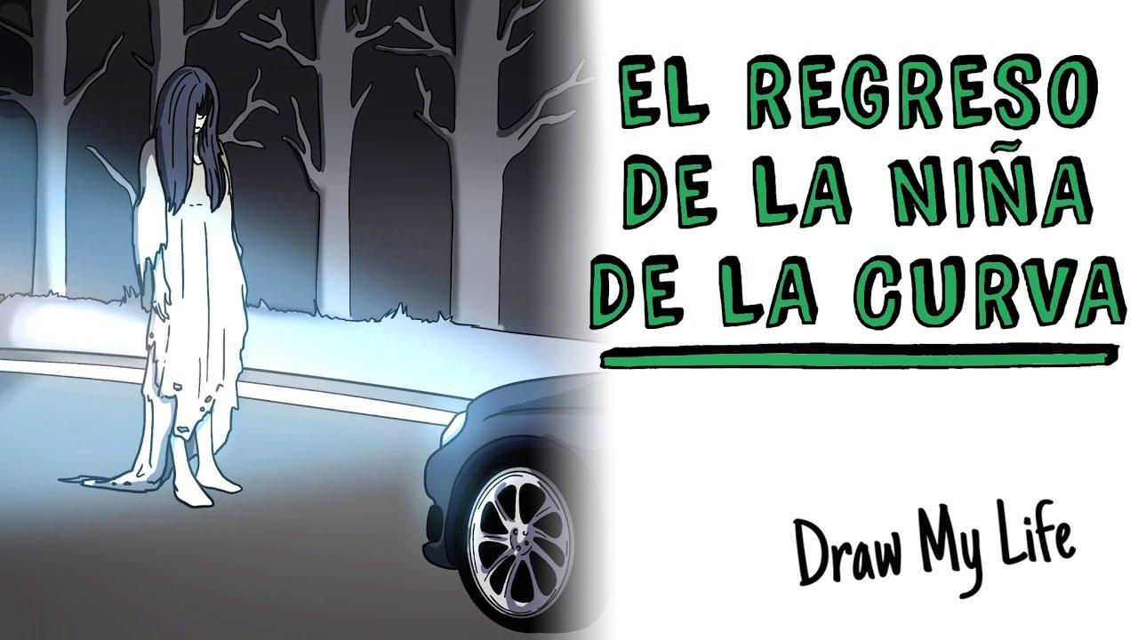 El regreso de LA NIÑA DE LA CURVA 🚗 Draw My Life Terror