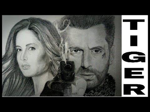 Tiger Zinda Hai Drawing | Salman Khan And Katrina Realistic Pencil Sketch - YouTube
