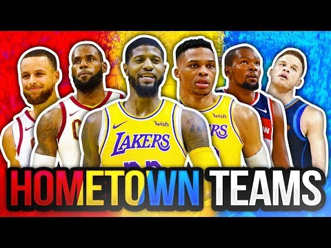 8 BEST NBA TEAMS IF EVERY PLAYER  PLAYED FOR THEIR HOMETOWN