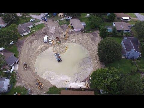 Drone Footage Sinkhole Land O' Lakes FL 8-12-17 | Work in Progress
