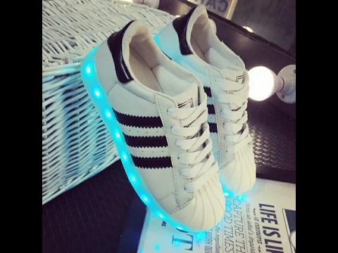 LED ADIDAS SUPERSTAR SHOES UNBOXING FOR GIVEWAY