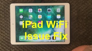 IPad WiFi Problem And Fix How To Fix WiFi Issue On IPhone Or IPad