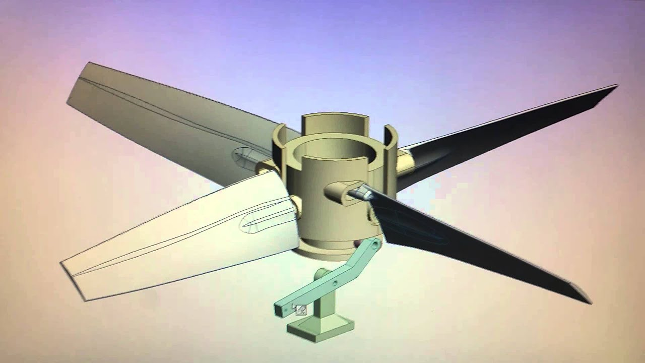 Variable Pitch Fan : Blade variable pitch propellor youtube