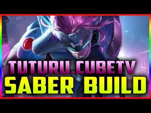 TUTURU Saber Build By TUTURU.CubeTv ~ Mobile Legends Build & Gameplay