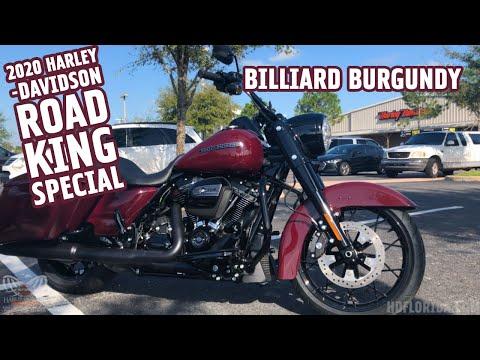 2020 Harley-Davidson Road King Special In Billiard Burgundy