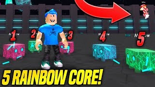 USING 5 RAINBOW C0RE PETS IN PET SIMULATOR! *GODLY* (Roblox)