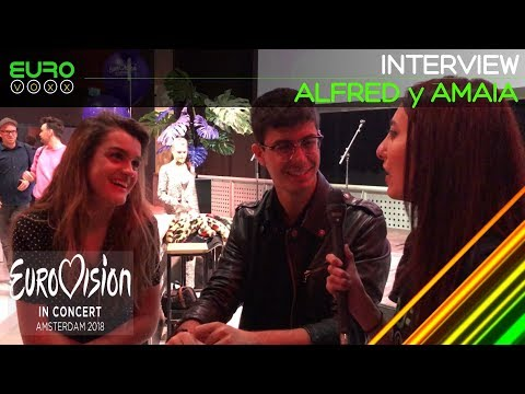 Alfred y Amaia interview (Spain Eurovision 2018)   Eurovision in Concert   Eurovoxx