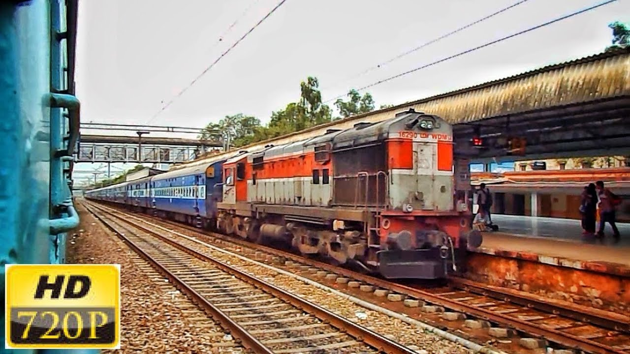 Elegant LHF LDH WDM-3A silently enters Sawai Madhopur | 59805 JP-BXN  Passenger | INDIAN RAILWAYS |