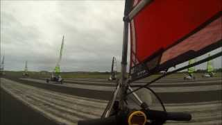 Fast Land Sailing on an Airfield in Wales